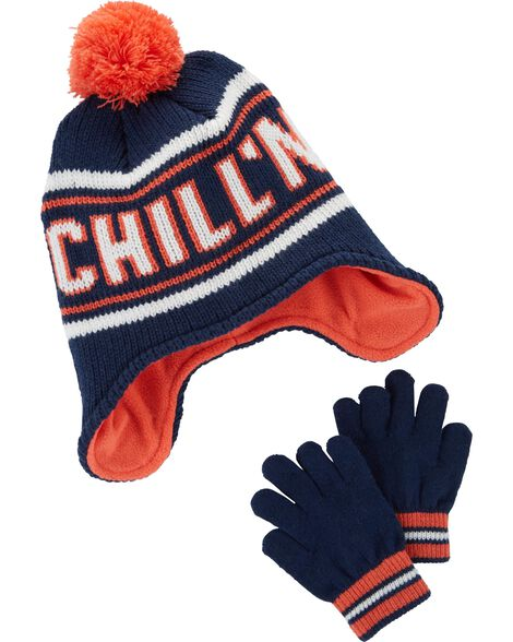 Display product reviews for Chill'N Hat & Mitten Set