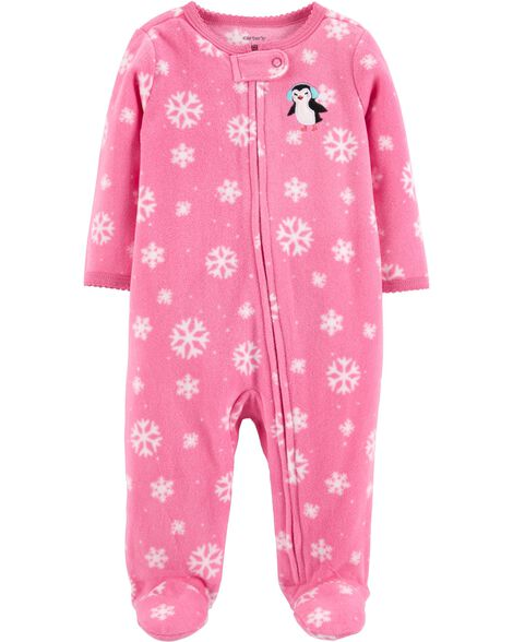 Display product reviews for Penguin Zip-Up Fleece Sleep & Play