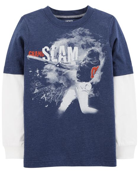 Display product reviews for Baseball Layered-Look Snow Yarn Tee