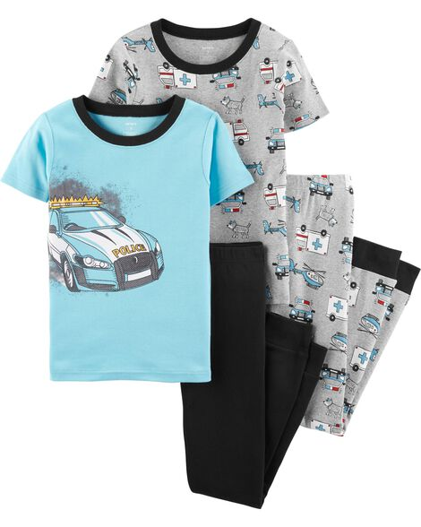 Display product reviews for 4-Piece Police Car Snug Fit Cotton PJs