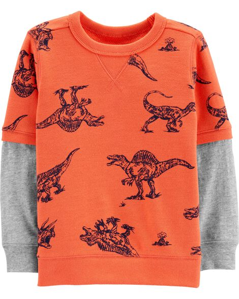 Display product reviews for Dinosaur Layered-Look Tee