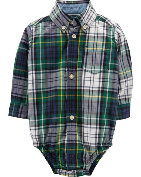 Display product reviews for Plaid Button-Front Bodysuit