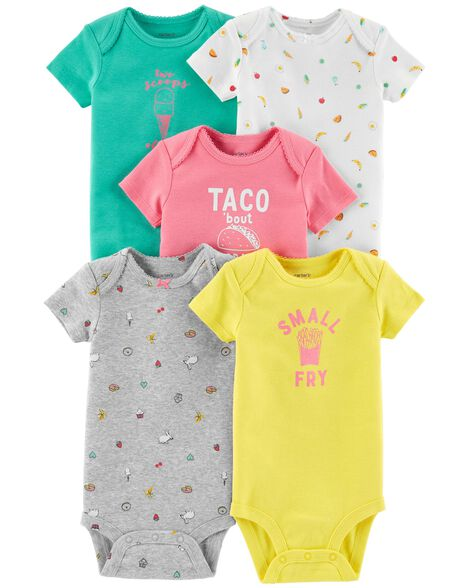 Display product reviews for 5-Pack Food Original Bodysuits