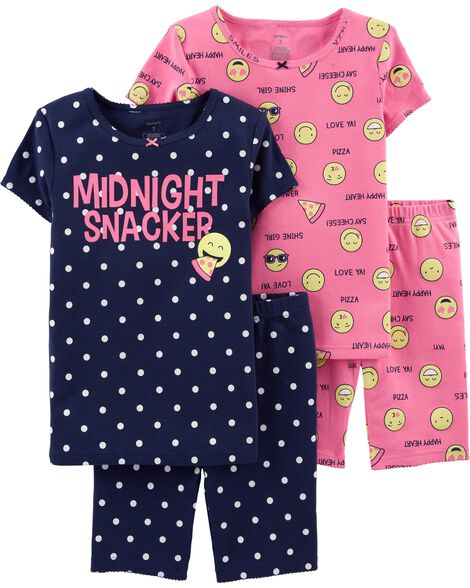 cf59f373a Display product reviews for 4-Piece Emoji Snug Fit Cotton PJs