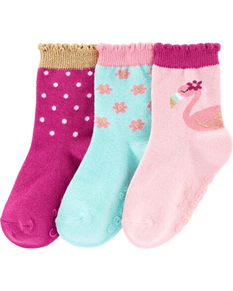 Display product reviews for 3-Pack Flamingo Socks