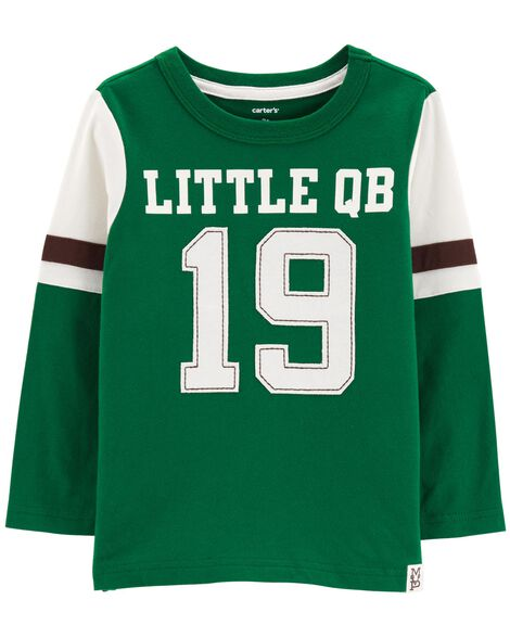Display product reviews for Little QB Carbonized Jersey Tee