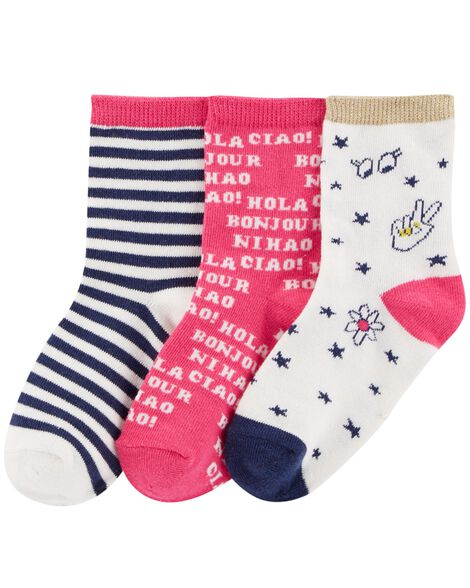 Display product reviews for 3-Pack Graphic Crew Socks
