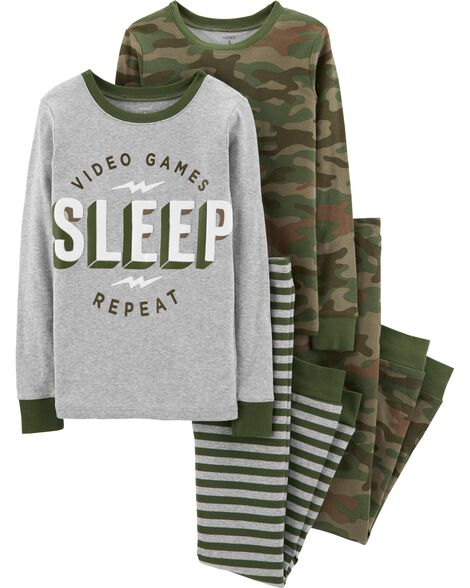 Display product reviews for 4-Piece Camo Snug Fit Cotton PJs