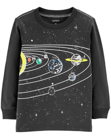 Display product reviews for Glow-In-The-Dark Solar System Textured Tee
