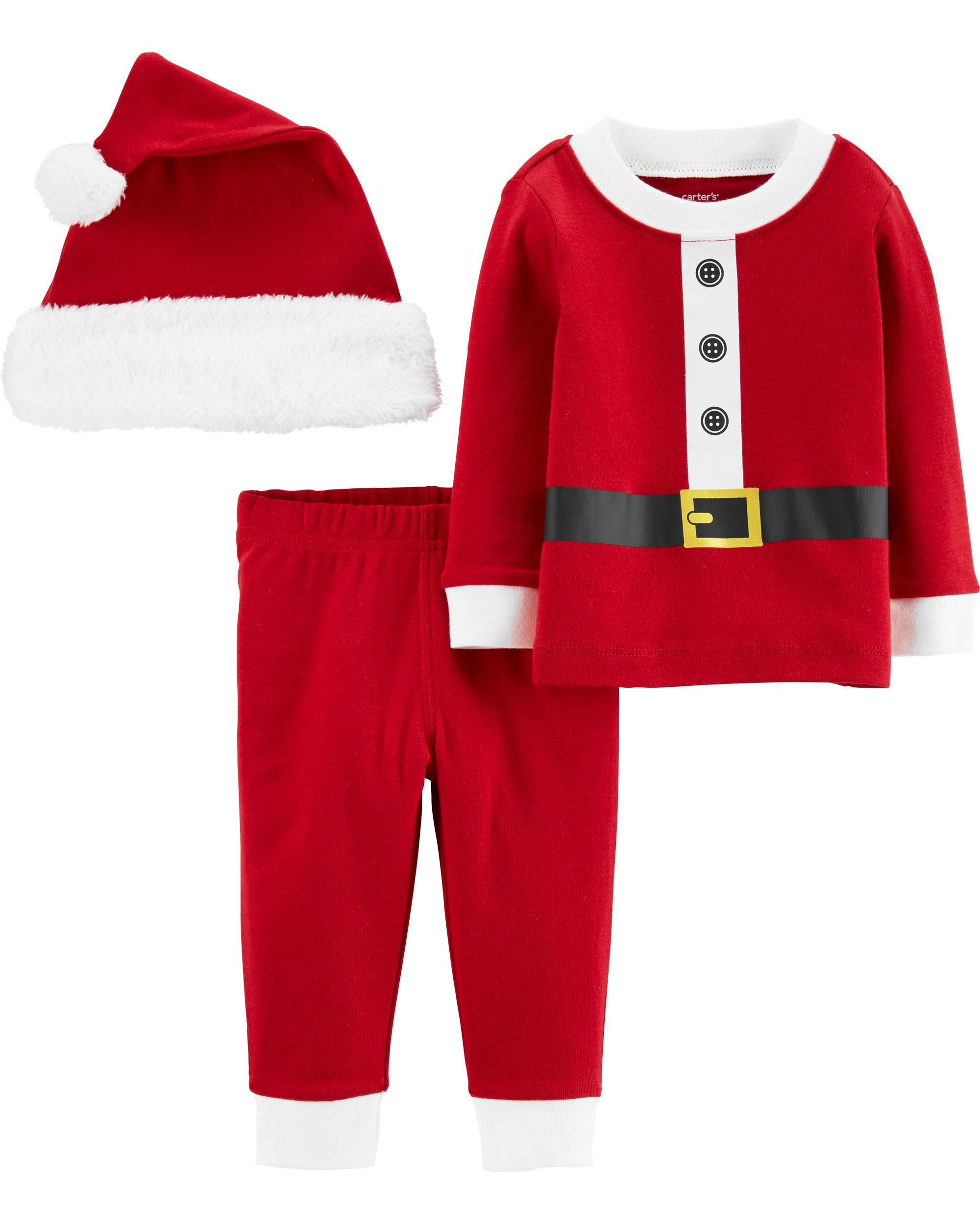 NWT Infant Girls 3 Piece outfit Carter/'s Cap Cardigan Pants My 1st Christmas