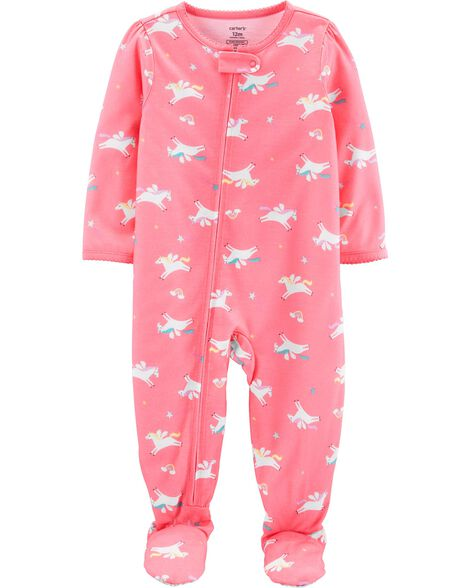 cc1a7df20cb 1-Piece Unicorn Poly Footie PJs