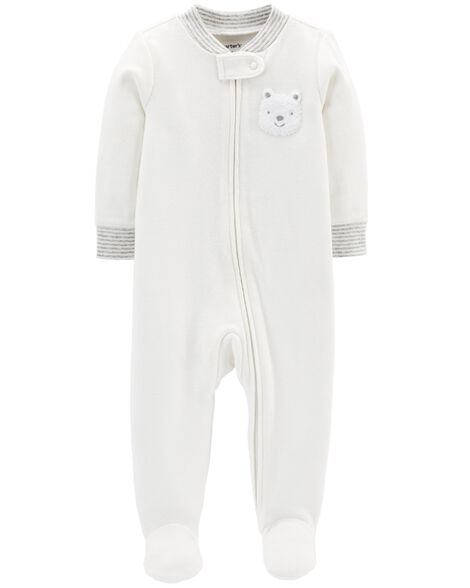 Display product reviews for Bear Zip-Up Cotton Sleep & Play
