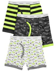 NWT Oshkosh Boys Boxer Brief Underwear 3pair//pack Shark,Ninja,Dinosaur,Stripe