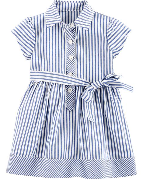 318930200b Display product reviews for Striped Shirt Dress
