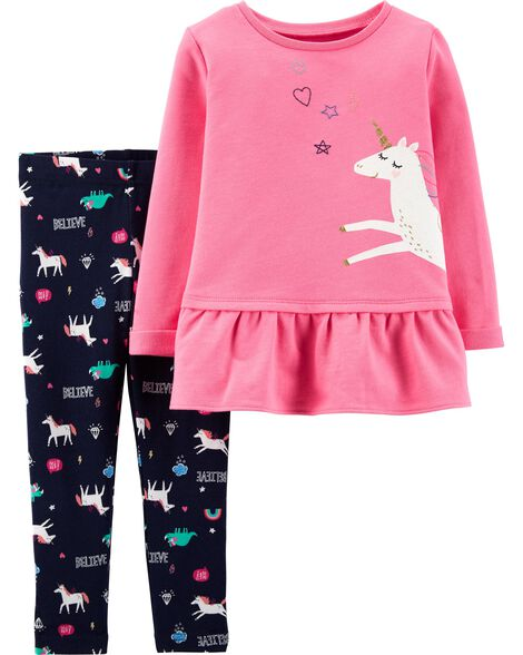 Display product reviews for 2-Piece Unicorn French Terry Top & Legging Set
