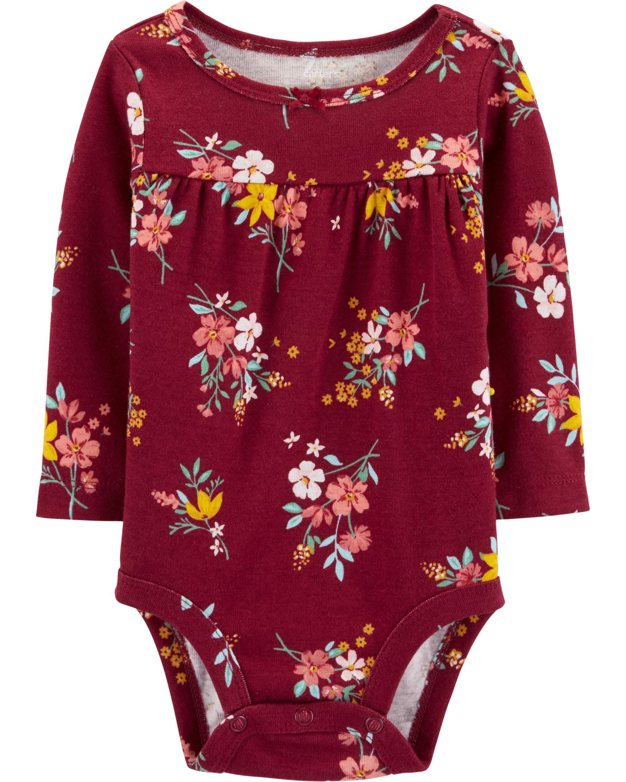 New Carter/'s Girls 3 Pack Unicorn Floral Side Snap Bodysuits NWT 3 6 9m 12m 18m