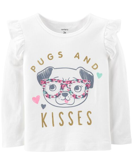Display product reviews for Pugs And Kisses Flutter Tee
