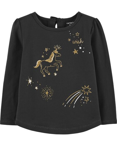 Display product reviews for Unicorn Constellation Sparkle Tee