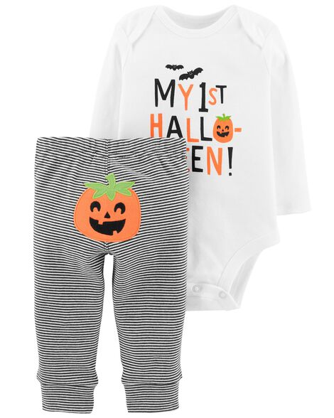 Display product reviews for 2-Piece Halloween Bodysuit Pant Set