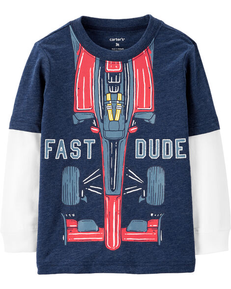 Display Product Reviews For Fast Dude Layered Look Tee