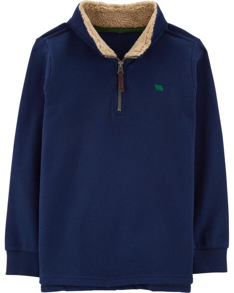 Display product reviews for Half-Zip Fleece Pullover