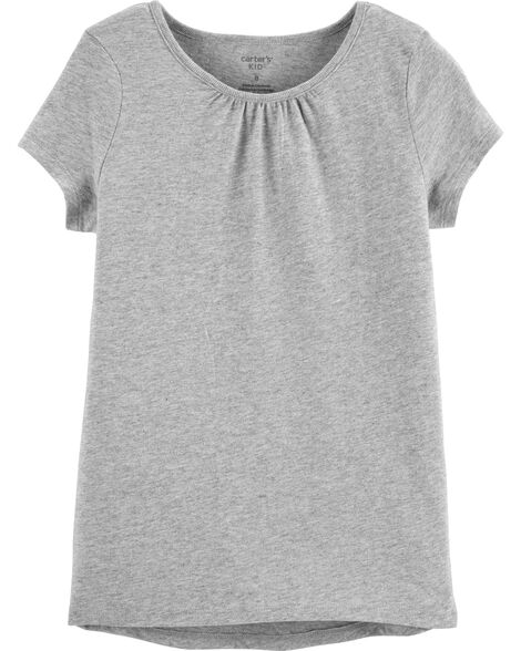 Display product reviews for Heather Grey Basic Tee