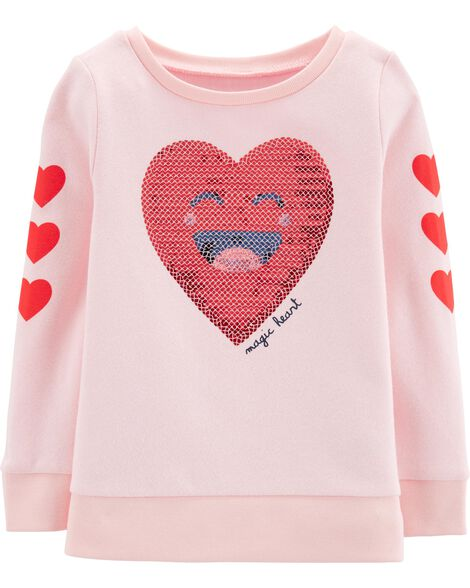 Display product reviews for Sequin Heart Sweatshirt