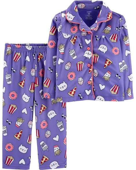 Display product reviews for 2-Piece Cat Lightweight Fleece PJs