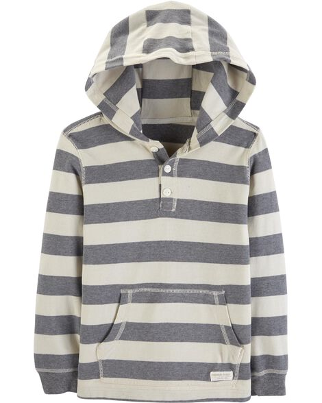 Display product reviews for Striped Hooded Henley