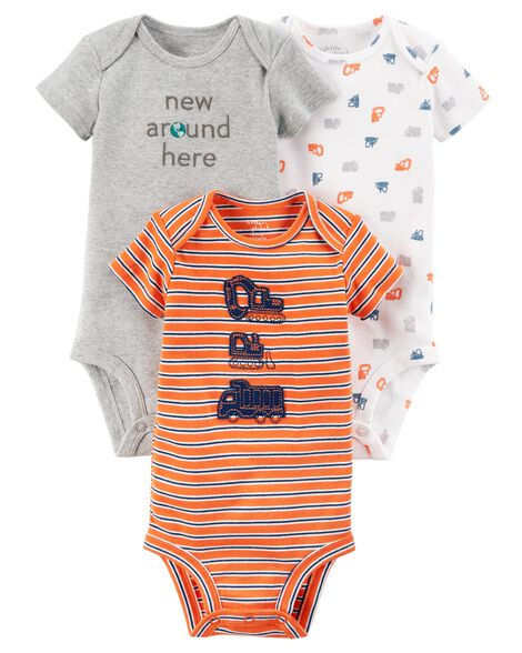 Display product reviews for 3-Pack Construction Certified Organic Bodysuits