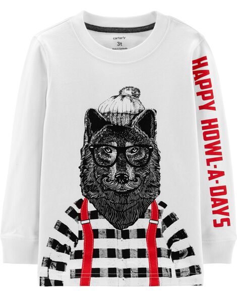 Display product reviews for Holiday Wolf Jersey Tee
