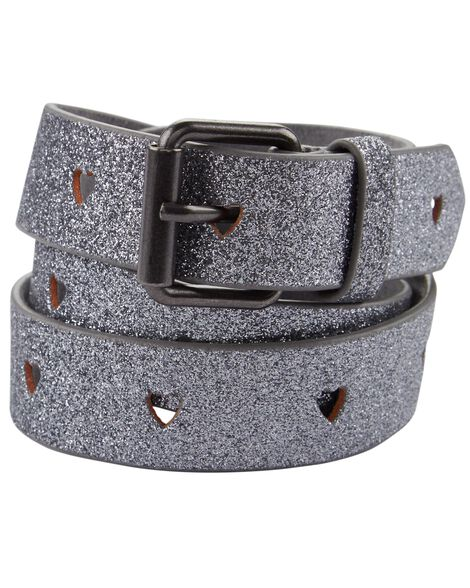 Display product reviews for Silver Glitter Perforated Heart Belt