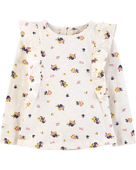 Display product reviews for Floral Ruffle Slub Top