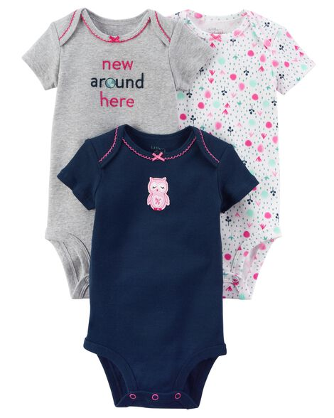 Display product reviews for 3-Pack Owl Certified Organic Bodysuits