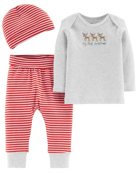 Display product reviews for Certified Organic Cotton 3-Piece Christmas Set
