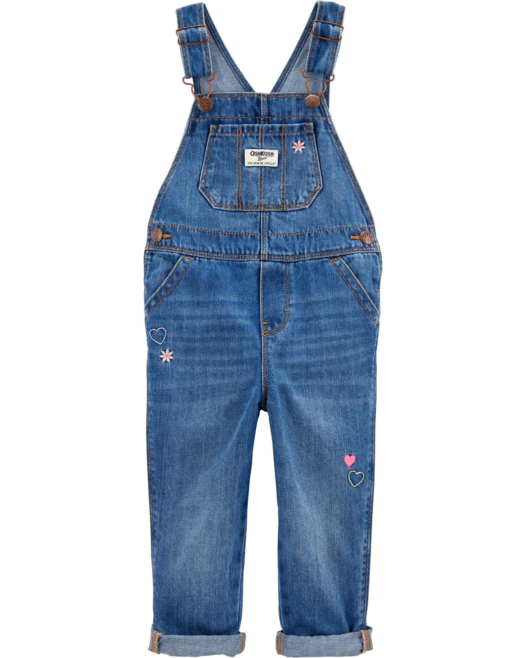 Cheap Price Kids 24 Mo Osh Kosh Denim Blue Jeans Overalls Butterfly Embroidered Farmer Baby Girls' Clothing (newborn-5t) Baby & Toddler Clothing