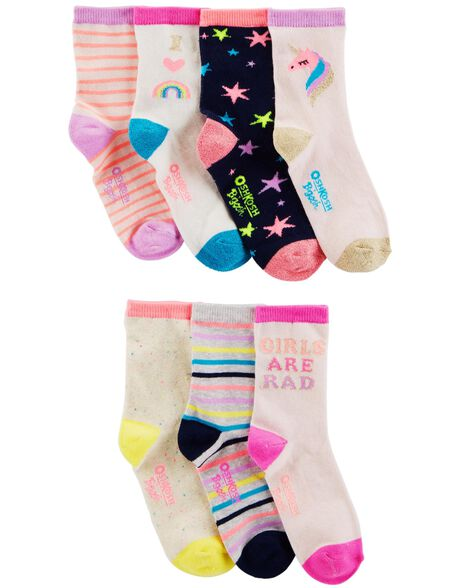 Display product reviews for 7-Pack Pink Crew Socks