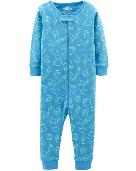 Display product reviews for 1-Piece Dino Cotton PJs