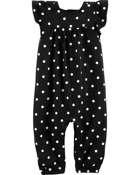 51a22d531310 Display product reviews for Polka Dot Flutter Jumpsuit