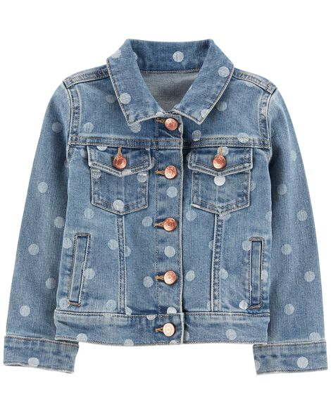 Display product reviews for Polka Dot Denim Jacket