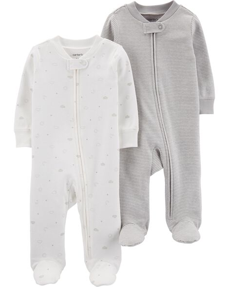 5a6e4d2c4b0 Display product reviews for 2-Pack Zip-Up Cotton Sleep   Plays