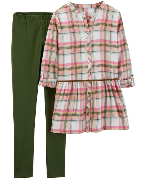 Display product reviews for 2-Piece Plaid Flannel & Legging Set