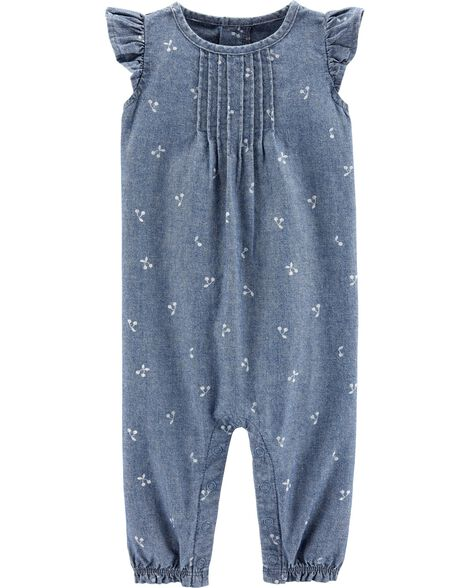 80a730158 Baby Girl One-Piece Jumpsuits & Bodysuits | Carter's | Free Shipping