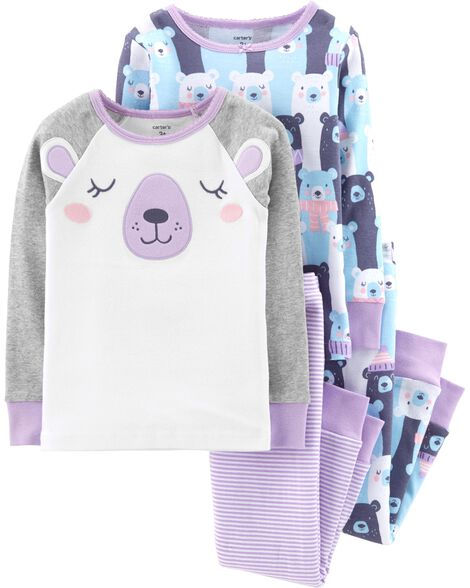 Display product reviews for 4-Piece Bear Snug Fit Cotton PJs
