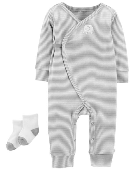 Display product reviews for 2-Piece Jumpsuit & Sock Set