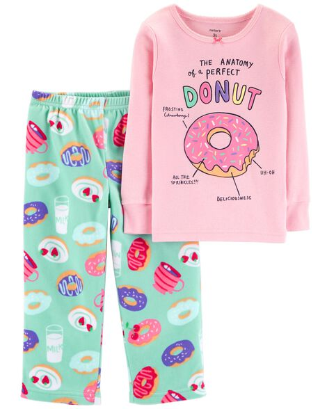 Display product reviews for 2-Piece Glitter Donut Snug Fit Cotton & Fleece PJs