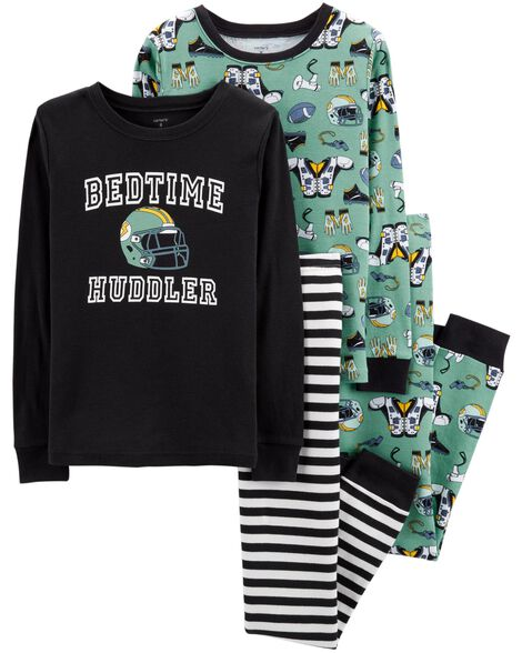 Display product reviews for 4-Piece Football Snug Fit Cotton PJs