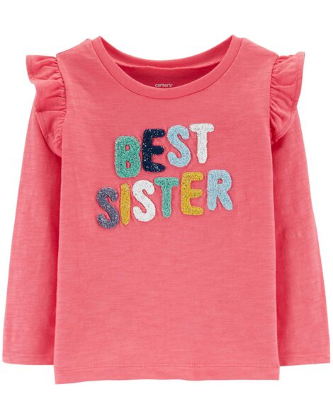 Display product reviews for Best Sister Slub Flutter Top