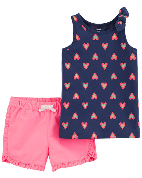 Display product reviews for 2-Piece Heart Tank & Neon Twill Short Set