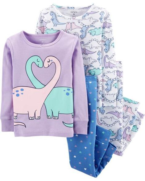 Display product reviews for 4-Piece Dinosaur Snug Fit Cotton PJs